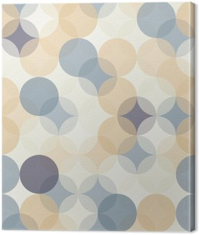 Canvas Print Vector modern seamless colorful geometry pattern circles , color abstract geometric background,wallpaper print, retro texture, hipster fashion design,