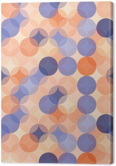 Vector modern seamless colorful geometry pattern circles , color blue orange abstract geometric background,wallpaper print, retro texture, hipster fashion design, Canvas Print