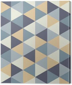 Canvas Print Vector modern seamless colorful geometry triangle pattern, color abstract geometric background, pillow multicolored print, retro texture, hipster fashion design