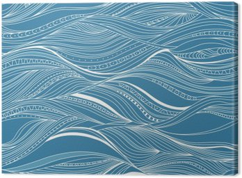Canvas Print Vector seamless abstract pattern, waves