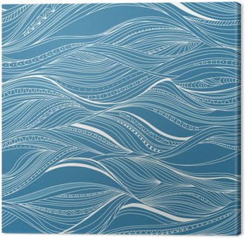 Vector seamless abstract pattern, waves Canvas Print