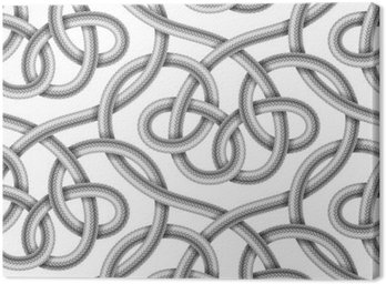 Vector seamless pattern of braided cable Canvas Print