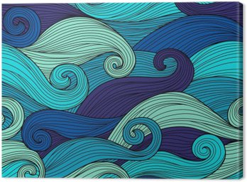 Canvas Print Vector seamless pattern with abstract waves
