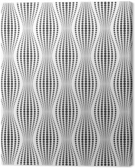 Vector seamless texture. Modern abstract background. Geometric patterns of dots. Canvas Print
