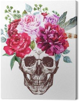 Canvas Print Vector Skull