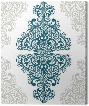Vector vintage ornate border frame card cover