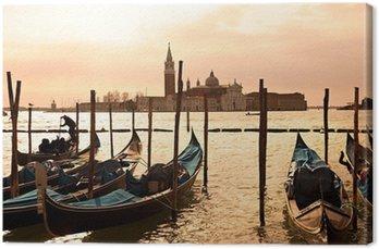 Venice, View of San Giorgio maggiore from San Marco. Canvas Print