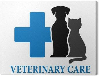 Canvas Print veterinary care symbol