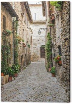 Canvas Print Vicolo romantico italiano