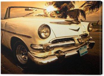 Canvas Print Vieille voiture américaine, Cuba