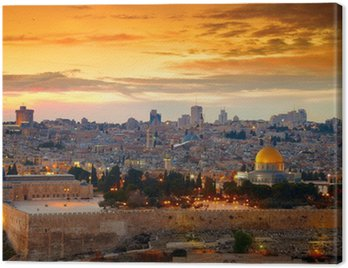 View to Jerusalem old city. Israel Canvas Print