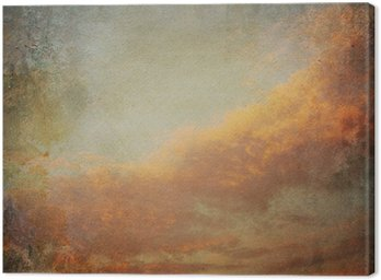 Canvas Print Vintage background with clouds in the sky