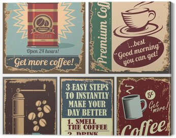 Canvas Print Vintage coffee posters and metal signs