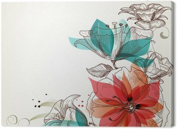 Vintage flowers background