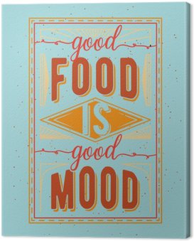 Vintage food related typographic quote