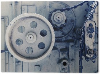 vintage machine mechanism at factory