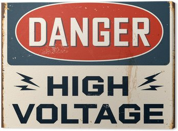 Canvas Print Vintage Metal Sign - Vector - Grunge effects can be removed