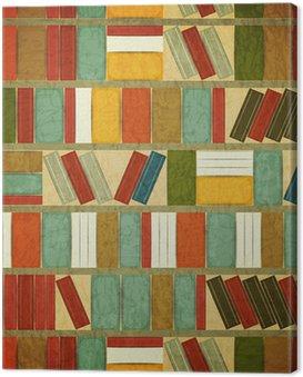 Canvas Print Vintage seamless Book Background