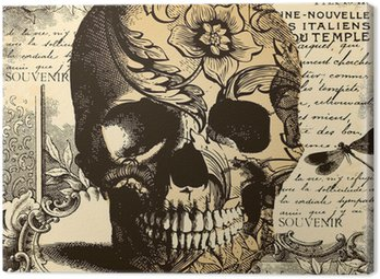 Canvas Print Vintage Skull background