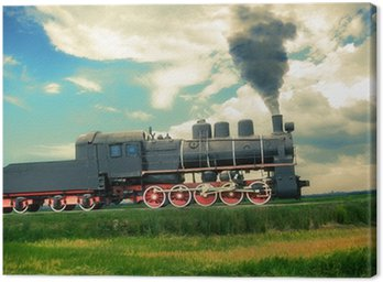 Canvas Print vintage steam train