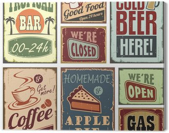 Canvas Print Vintage style signs