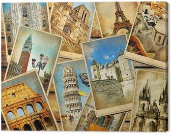 Canvas Print vintage travel collage background