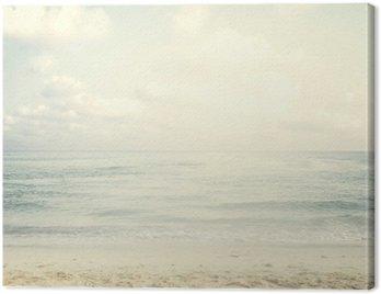 Vintage tropical beach in summer