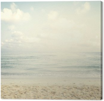 Canvas Print Vintage tropical beach in summer