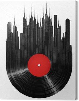 Canvas Print Vinyl city