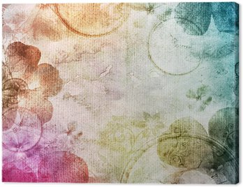 watercolor background with flowers