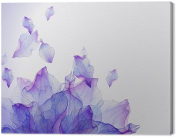 Canvas Print Watercolor card with Purple flower petal