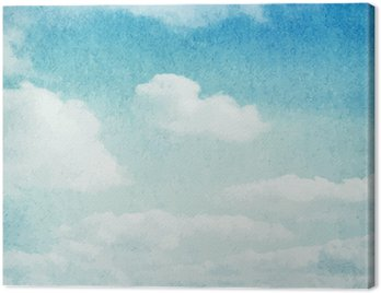 Canvas Print Watercolor clouds and sky background