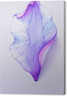 Watercolor element flower petal Canvas Print