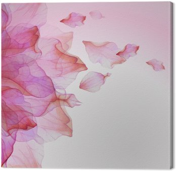 Watercolor floral  pattern with petals