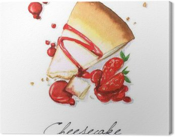 Watercolor Food Painting - Cheesecake