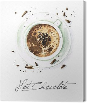 Watercolor Food Painting - Hot Chocolate
