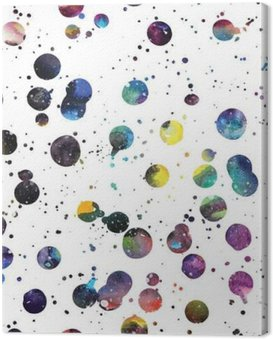 Watercolor galaxy background. Canvas Print