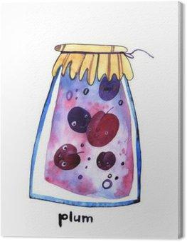 watercolor plum jem