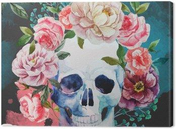 Canvas Print Watercolor skull