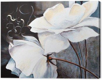 Canvas Print Weisse Blumen