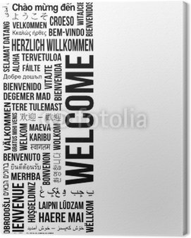 Canvas Print welcome banner left