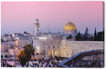 Western Wall and Dome of the Rock in Jerusalem, Israel Canvas Print