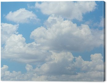 Canvas Print white clouds on blue sky