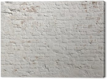 Canvas Print White grunge brick wall background
