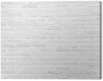 Canvas Print White grunge brick wall texture background