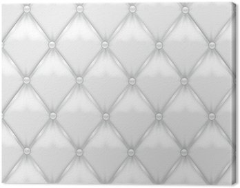 White Leather Upholstery Canvas Print