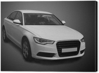 Canvas Print white luxury car