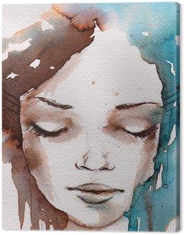 Canvas Print Winter, cold portrait