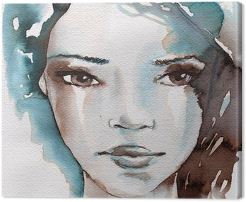 Winter, cold portrait Canvas Print