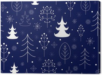 Winter forest background Canvas Print